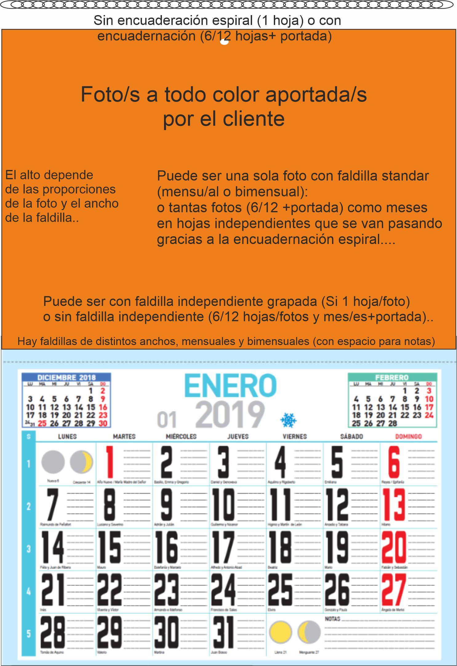 Calendarios pared alternativas