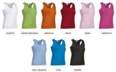Camiseta Amanda color tirantes mujer 190gr